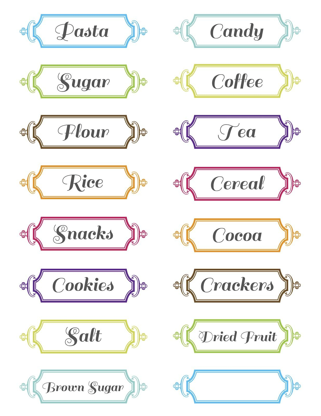 Free Printable Pantry Labels   Covers   Pinterest   Printable Labels - Free Printable Pantry Labels