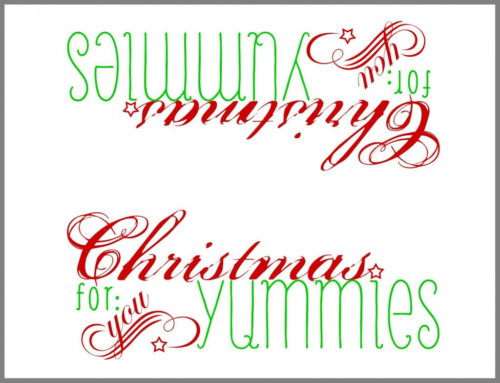 Free Printable: Paper Bag Topper | Winter & Christmas | Christmas - Free Printable Christmas Bag Toppers