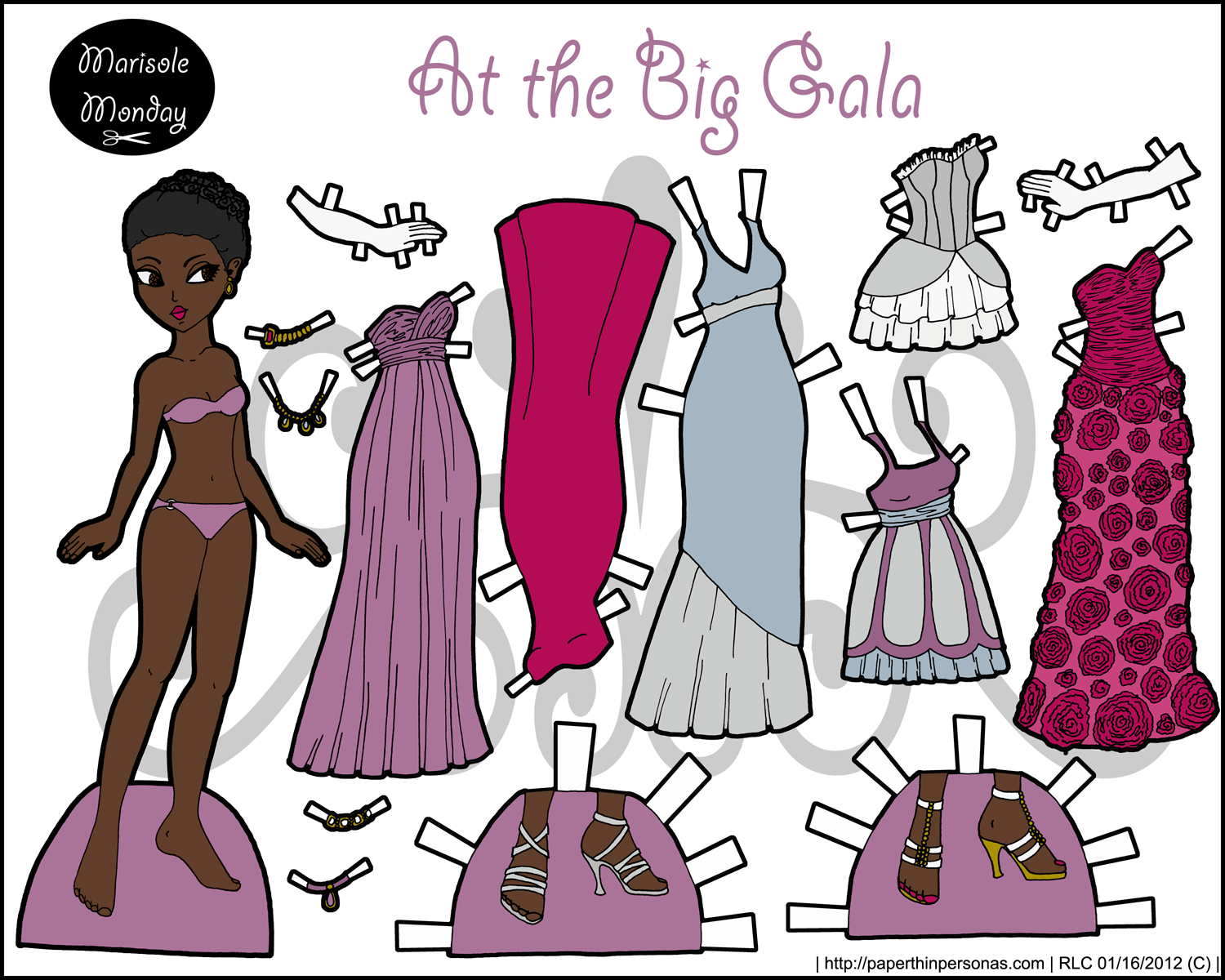 Free Printable Paper Doll- Marisole Monday - Free Printable Paper Dolls From Around The World