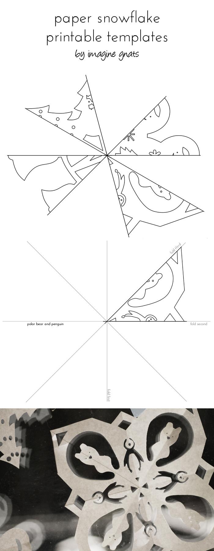 Free Printable: Paper Snowflakes - Imagine Gnats - Snowflake Template Free Printable