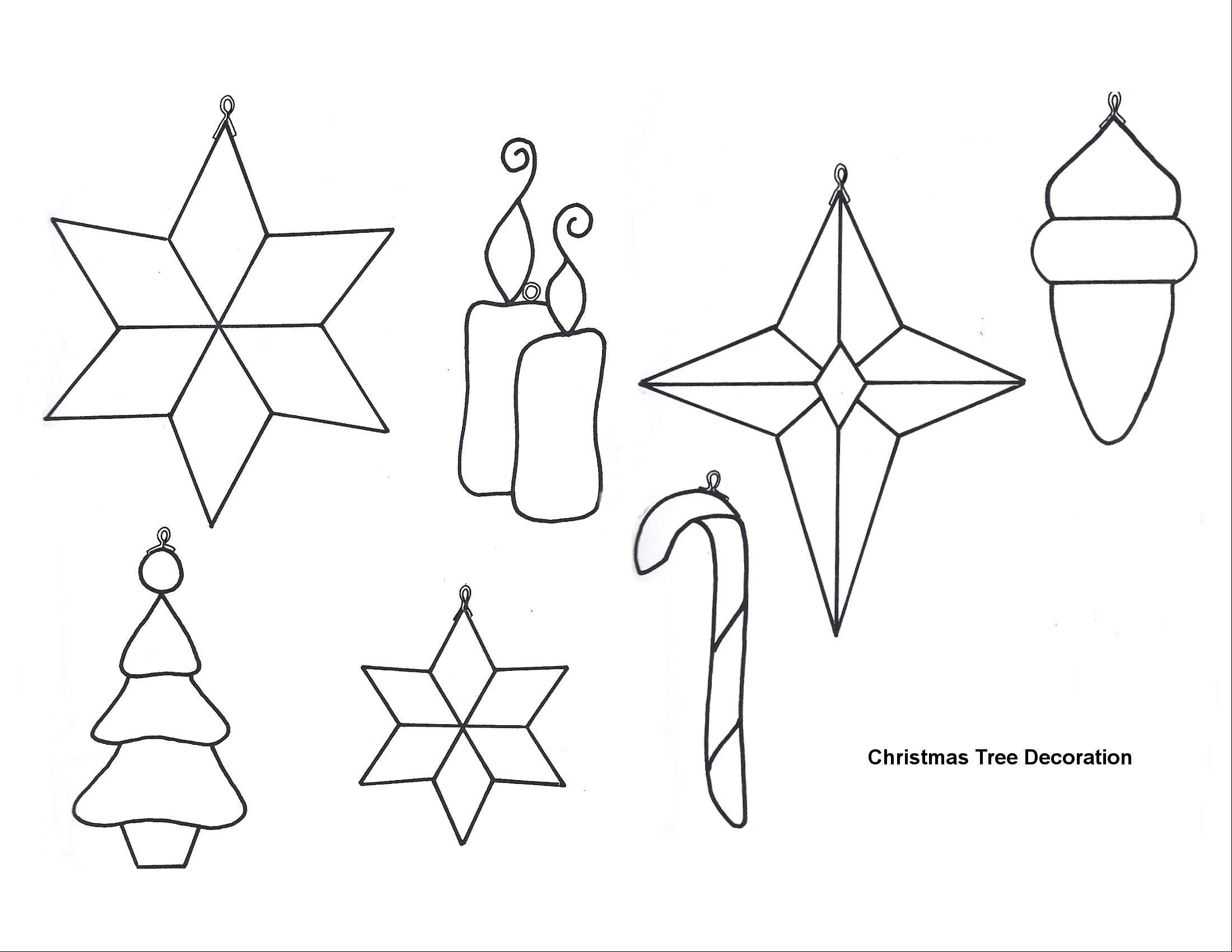 Free Printable Papercraft Templates. Felt Christmas Patterns - Free Printable Christmas Ornament Patterns
