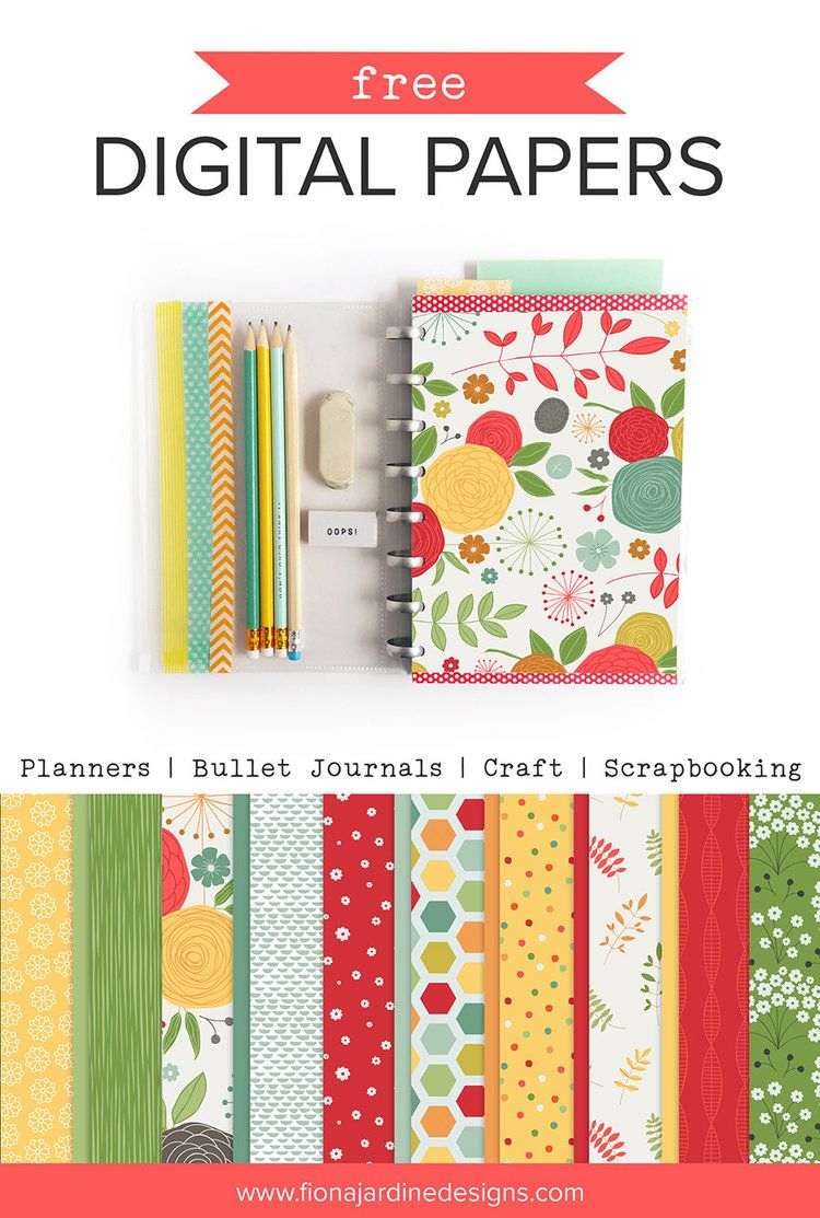 Free Printable Papers For Planners, Craft And Scrapbooking | Digital - Free Printable Scrapbook Stuff