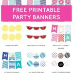 Free Printable Party Banners From @chicfetti | Pola | Pinterest   Free Printable Birthday Banner