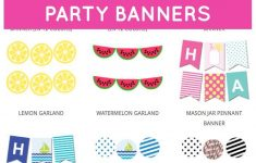 Free Printable Party Banners From @chicfetti | Pola | Pinterest – Free Printable Birthday Banner