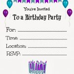 Free Printable Party Invites Templates Free Birthday Invitations   Make Your Own Birthday Party Invitations Free Printable
