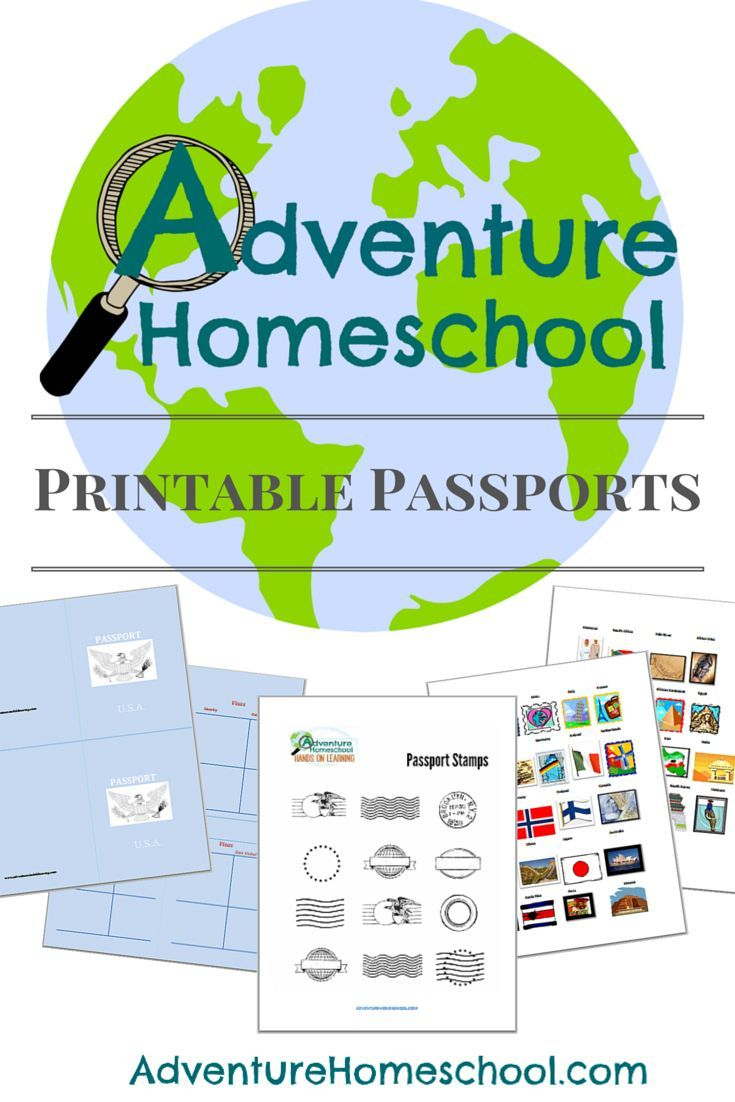 Free Printable Passports And Country Stamps For Homeschooling Fun - Free Printable Passport Template