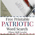 Free Printable Patriotic Word Search (With Three Different Skill   Free Printable Patriotic Writing Paper