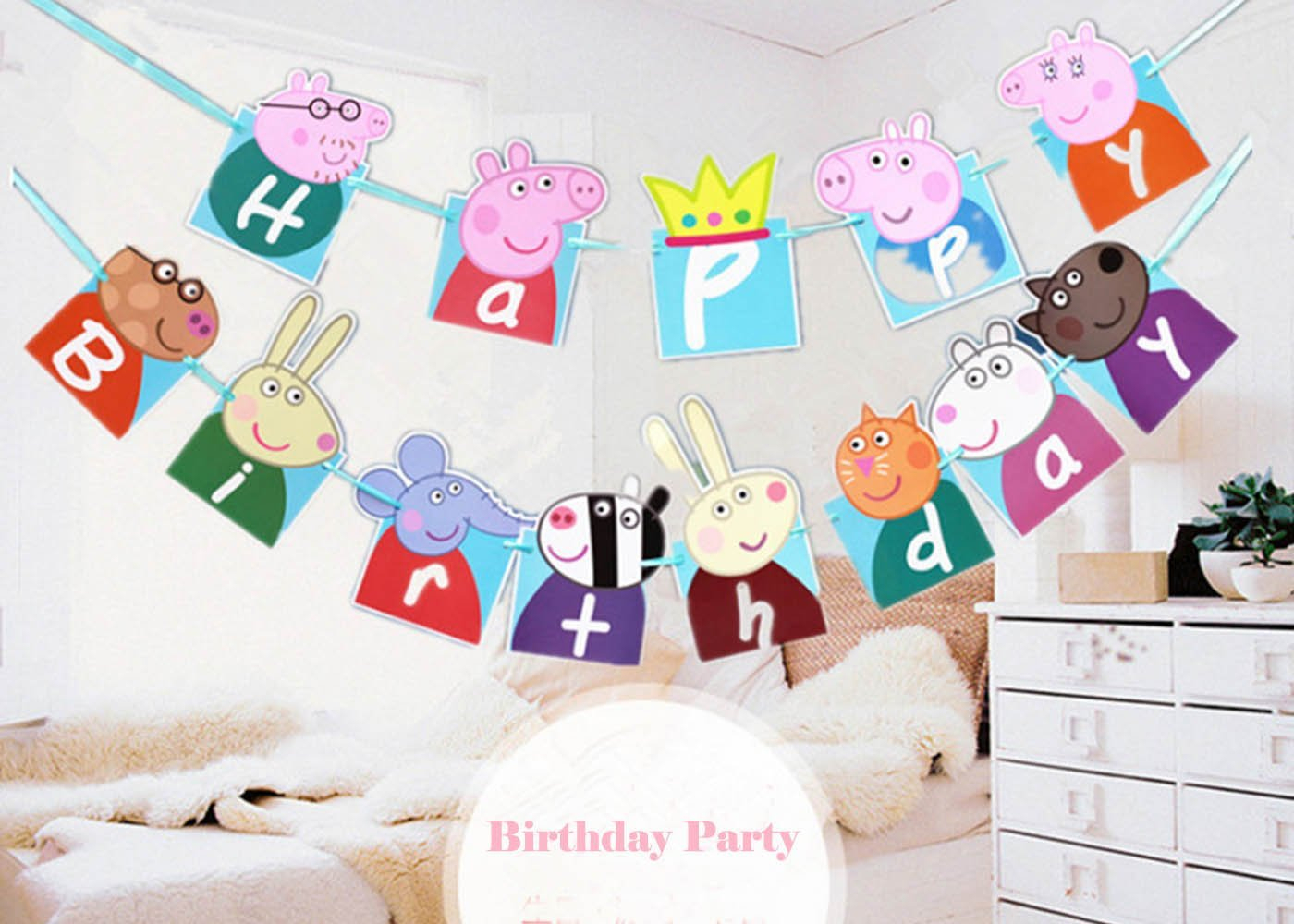 Free Printable Peppa Pig Banners - 20.17.hus-Noorderpad.de • - Peppa Pig Birthday Banner Printable Free