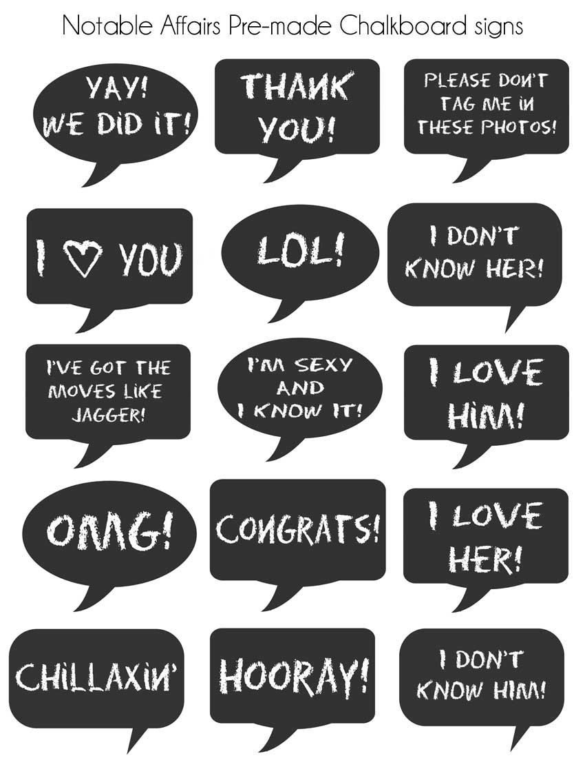 Free Printable Photo Booth Props Signs | M&c Forever <3 | Pinterest - Free Printable Wedding Photo Booth Props