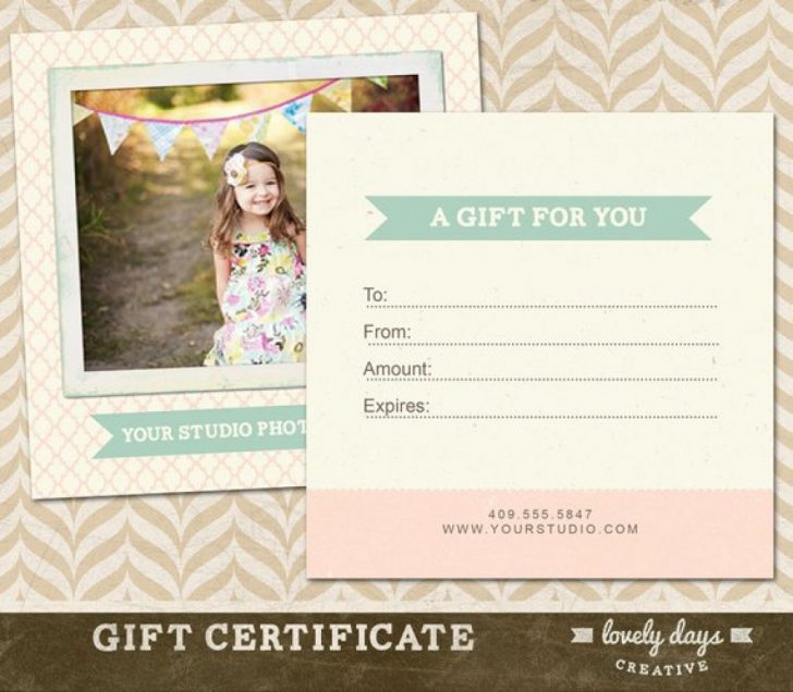 Free Printable Photography Gift Certificate Template