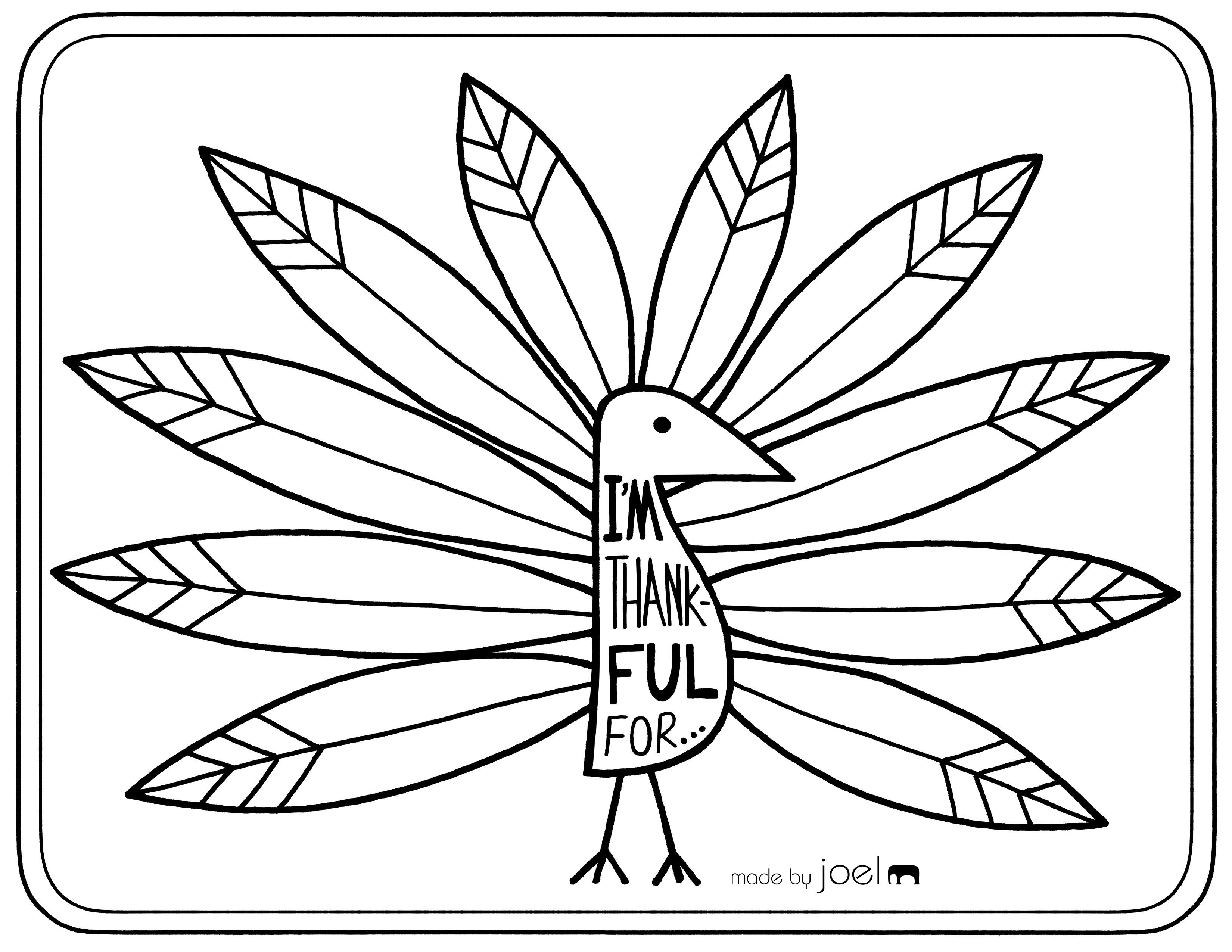Free Printable Placemat For Giving Thanks   Fall Crafts & Ideas - Free Printable Thanksgiving Coloring Placemats