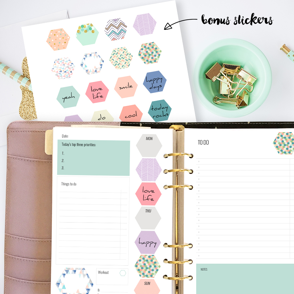 Free Printable Planner Inserts For Large Planners Plus Bonus Planner - Free Planner Refills Printable