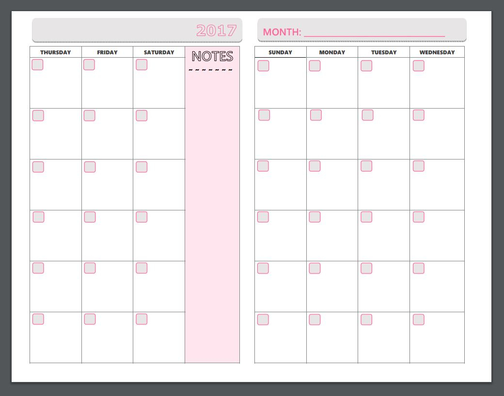 Free Printable Planner Pages - The Make Your Own Zone - Free Printable Diary Pages