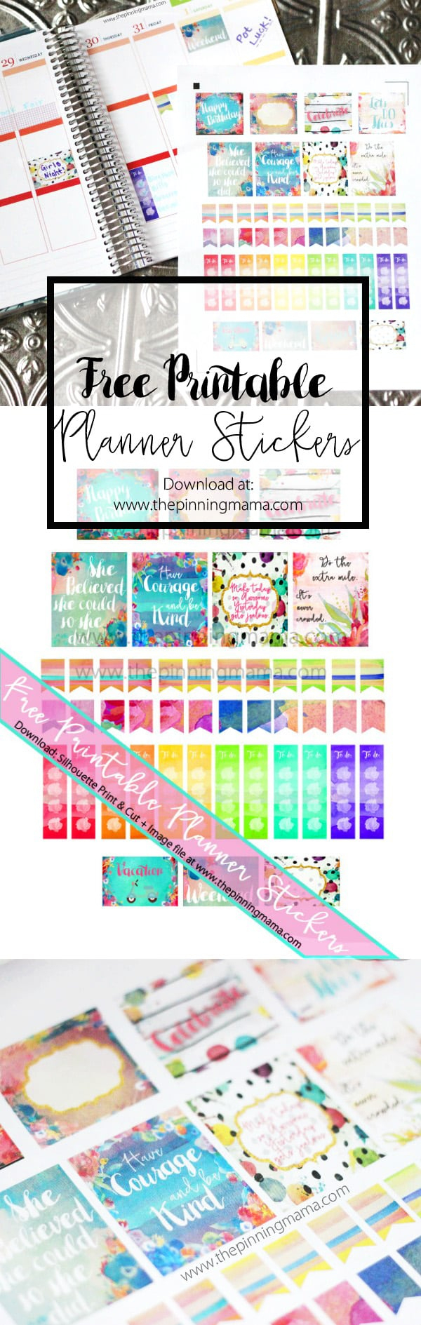 Free Printable Planner Stickers • The Pinning Mama - Printable Erin Condren Stickers Free