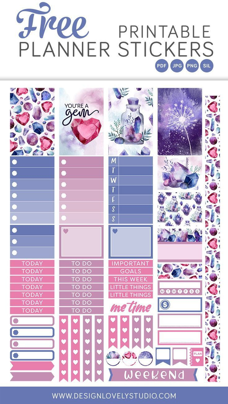 Free Printable Planner Stickers Kit, Digital Planner Stickers - Free Printable Planner Stickers Pdf