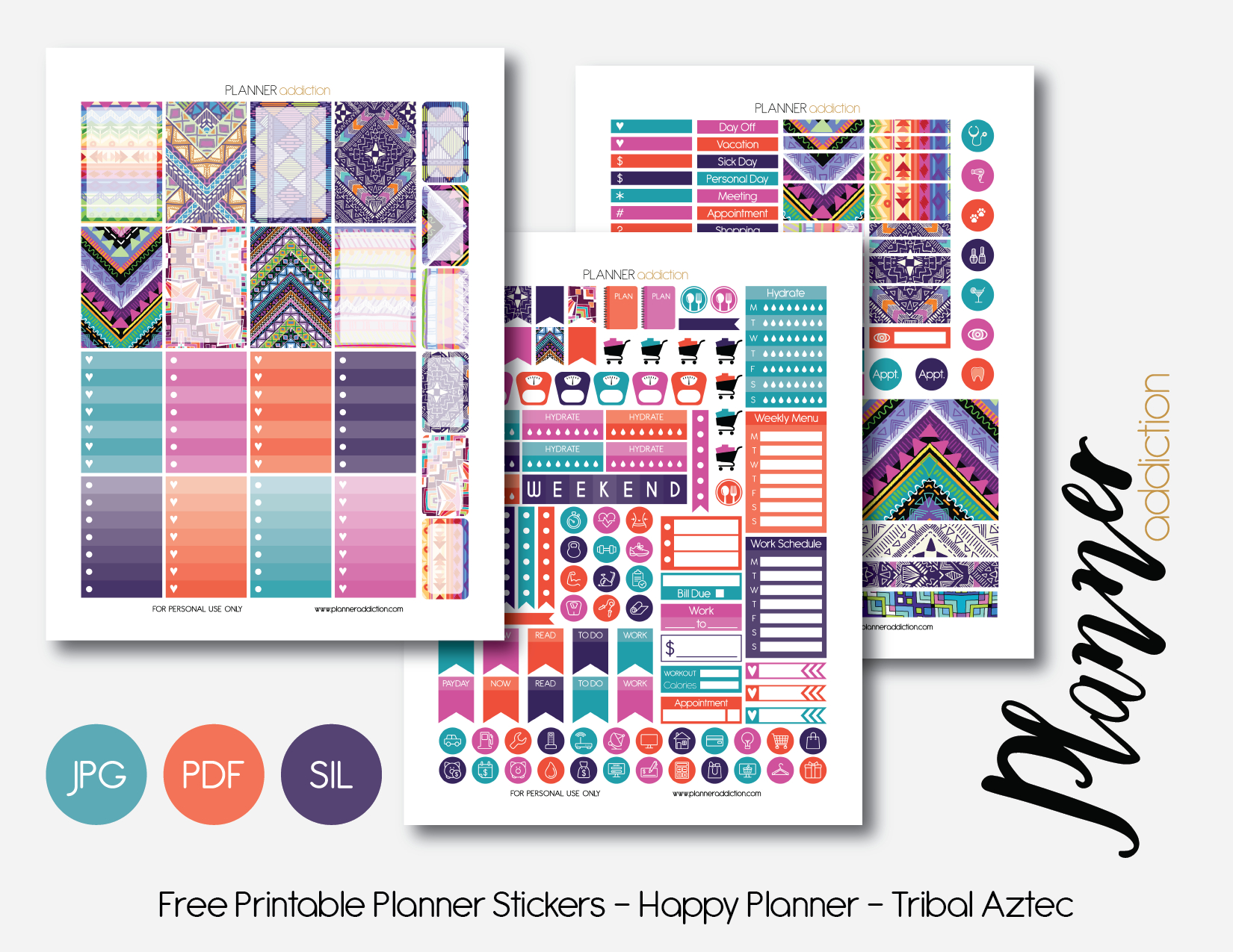 Free Printable Planner Stickers – Planner Addiction - Free Printable Planner Stickers Pdf
