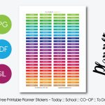 Free Printable Planner Stickers – Planner Addiction   Free Printable Stickers For Teachers