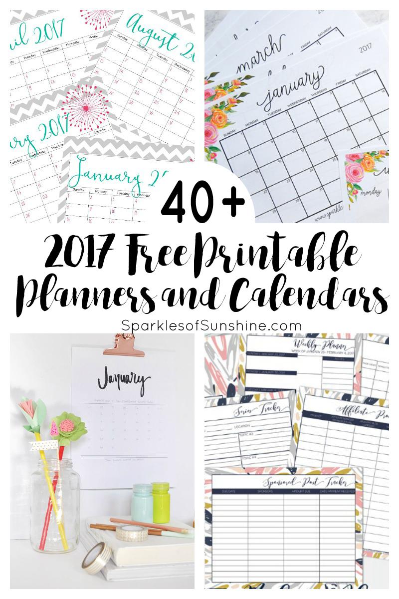 Free Printable Planners 2017 - 1.11.hus-Noorderpad.de • - Free Printable Planner 2017 2018