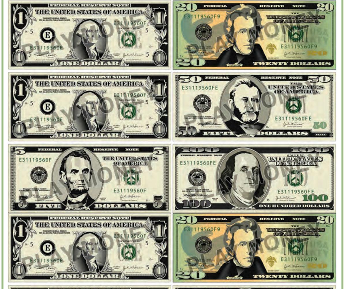 Free Printable Play Money - Familyeducation - Free Printable Money