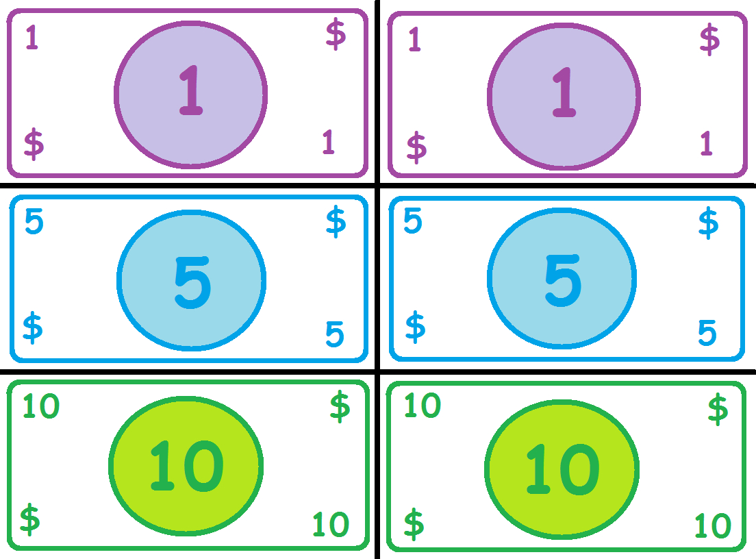 Free Printable Play Money | Madhouse Mommy: Play Money | Money - Free Printable Play Money Sheets