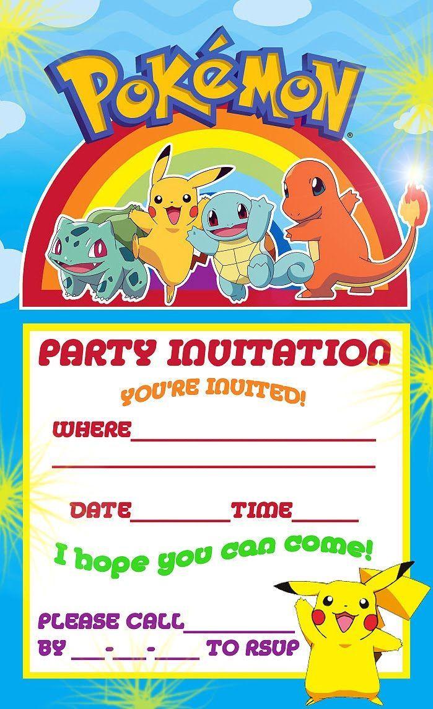 Free Printable Pokemon Birthday Party Invitations | Pokemon Party - Pokemon Invitations Printable Free