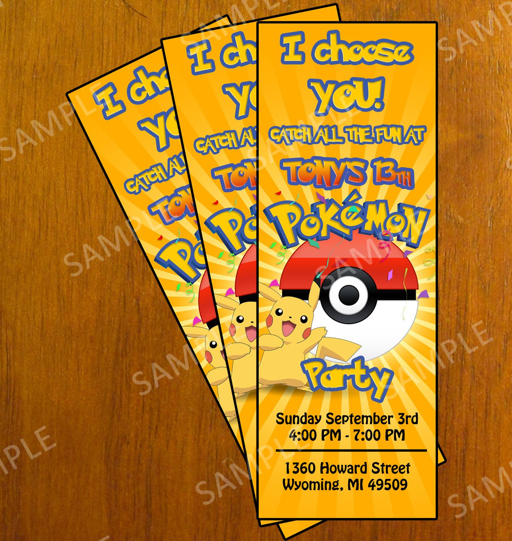 Free Printable Pokemon Invitation Cards   *{Elijah} ❤   Pokemon - Pokemon Invitations Printable Free