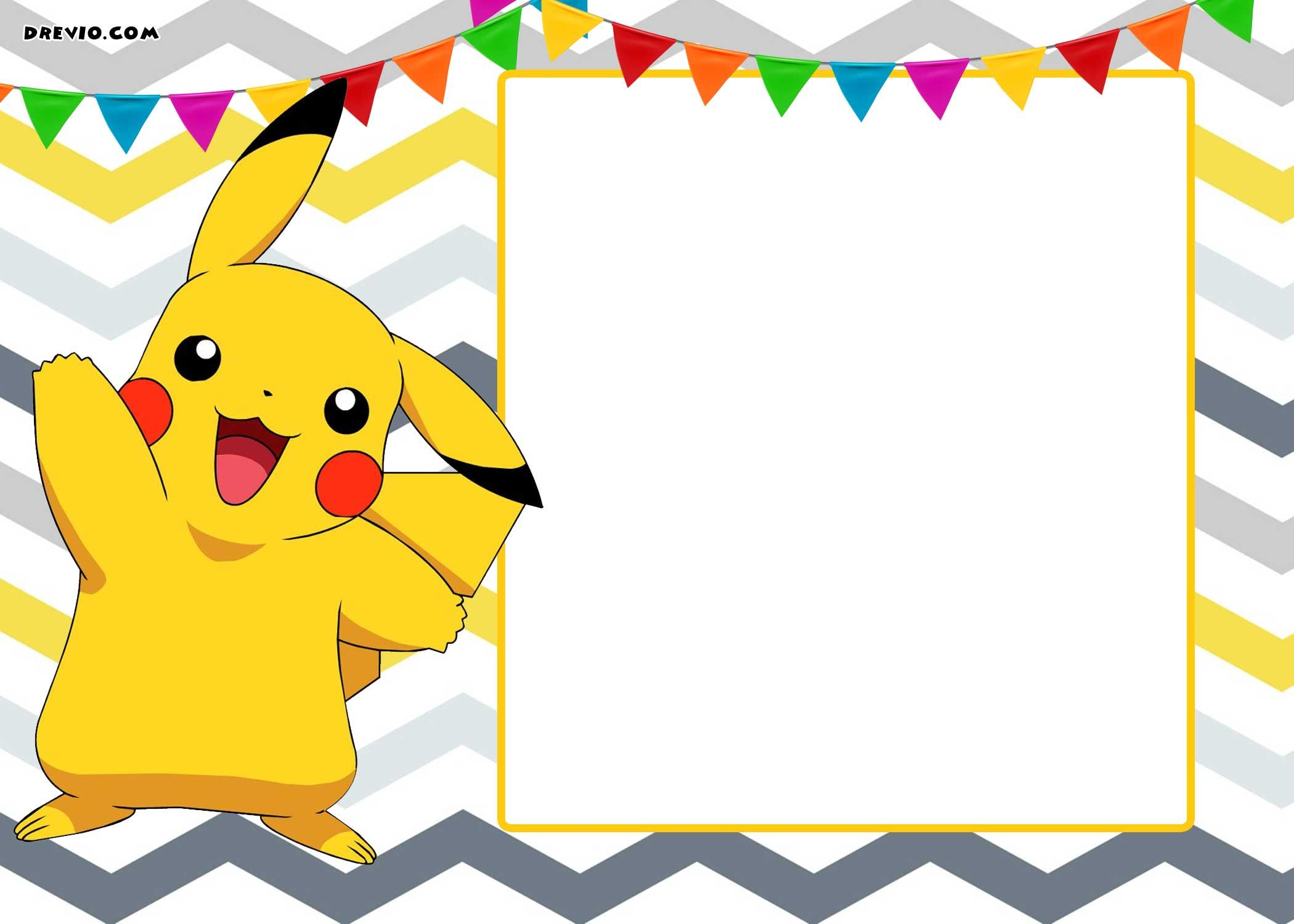 Free Printable Pokemon Invitation | Free Printable Birthday - Free Printable Pokemon Masks