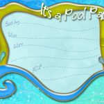 Free Printable Pool Party Invitation Template From   Free Printable Pool Party Invitations