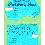 Free Printable Pool Party Invitations Free Printable Pool Party   Free Printable Pool Party Invitations