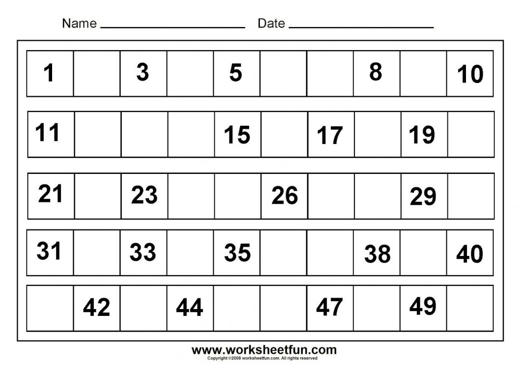 Free Printable Pre K Math Worksheets – With Maths Ks2 Also Preschool - Free Printable Math Worksheets For Kids