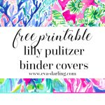 Free Printable Preppy Lilly Pulitzer Binder Covers   Free Printable School Binder Covers