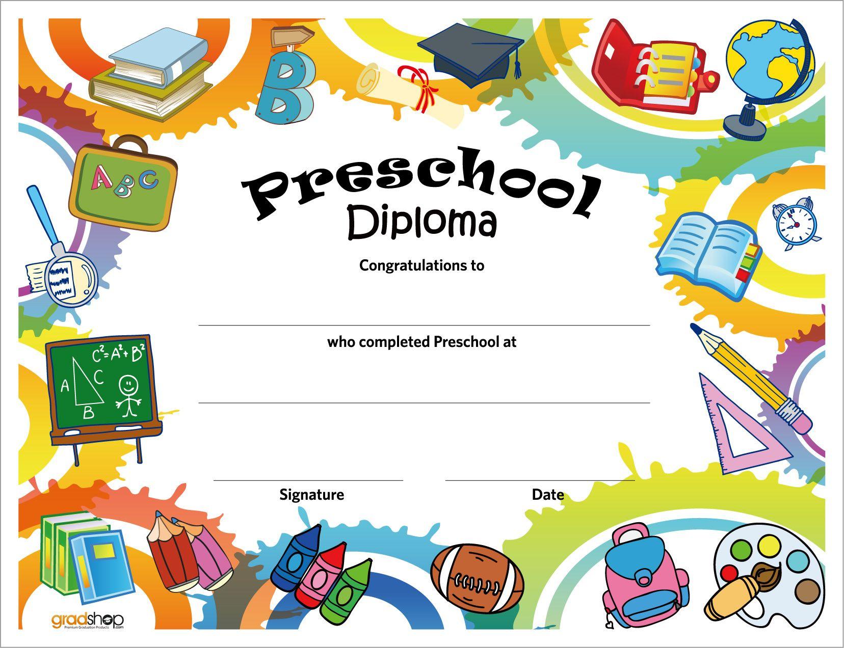 Free Printable Preschool Diplomas   Preschool Classroom   Preschool - Free Printable Kindergarten Graduation Clipart