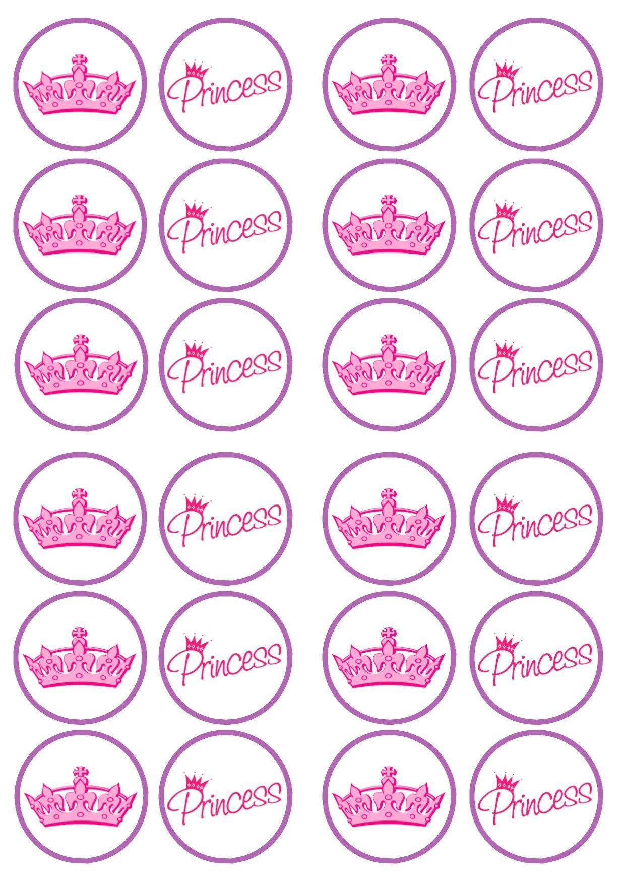 Free Printable Princess Birthday Cupcake Toppers   Princess - Free Printable Barbie Cupcake Toppers
