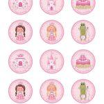 Free Printable Princess Birthday Cupcake Toppers | Printable Party   Free Printable Cupcake Toppers