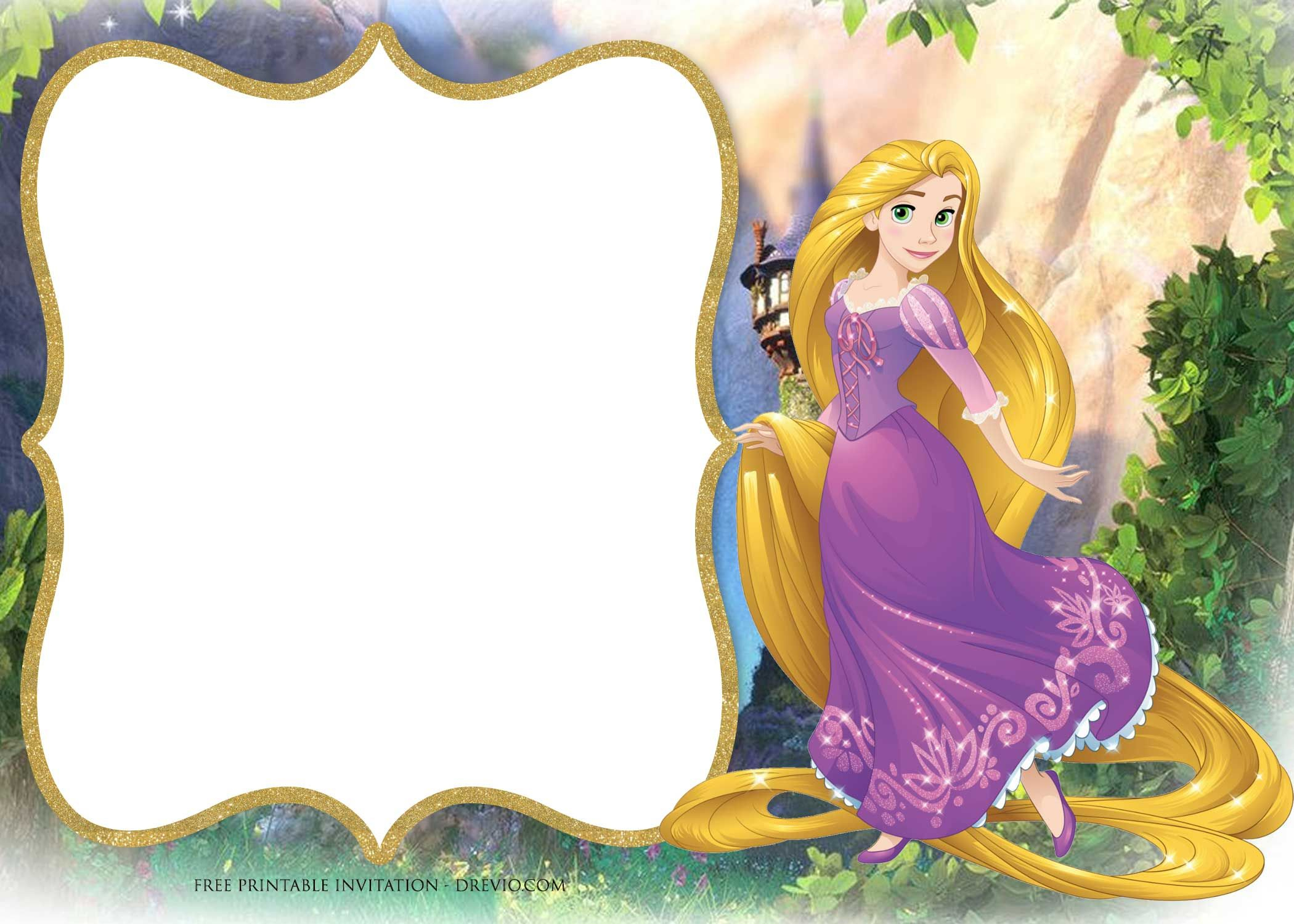 Free Printable Princess Rapunzel Invitation | Free Printable - Free Printable Tangled