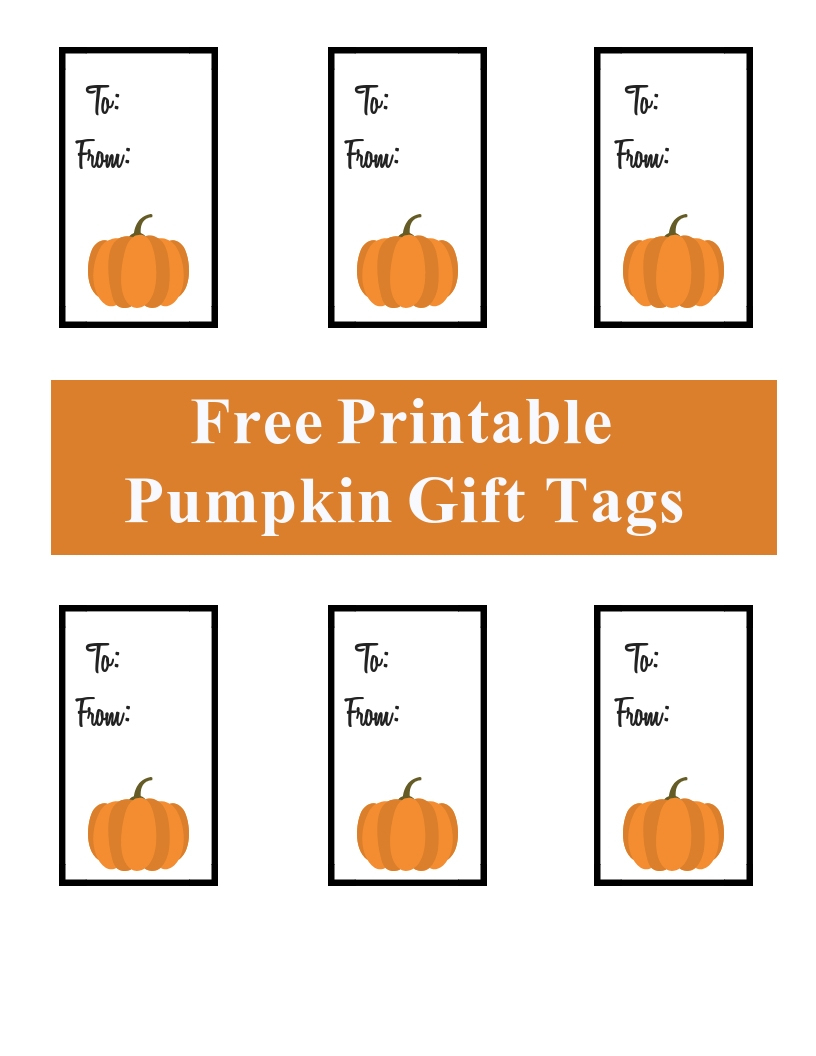 Free Printable Pumpkin Gift Tags - A Cup Full Of Sass - Free Printable Pumpkin Gift Tags