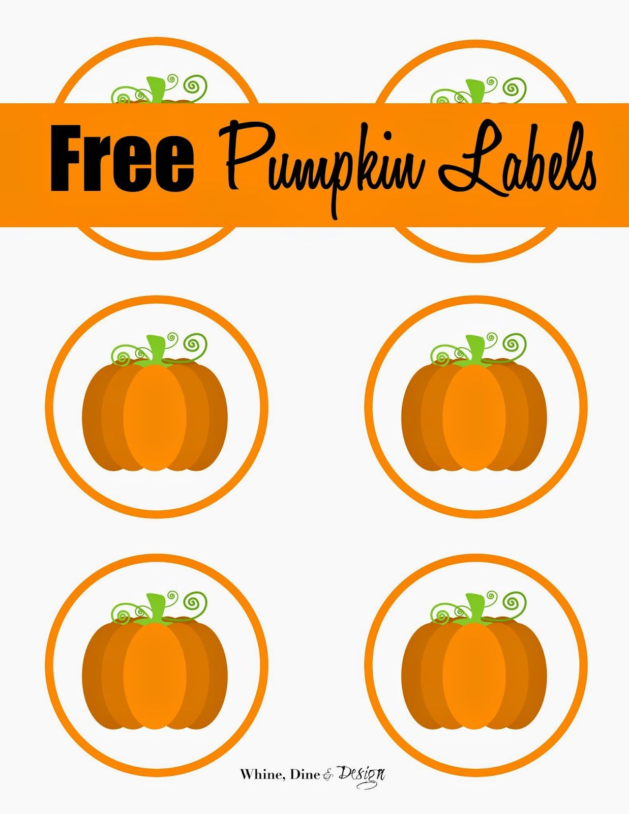 Free Printable Pumpkin Labels/cupcake Toppers | Craft Ideas/diy - Free Printable Pumpkin Gift Tags