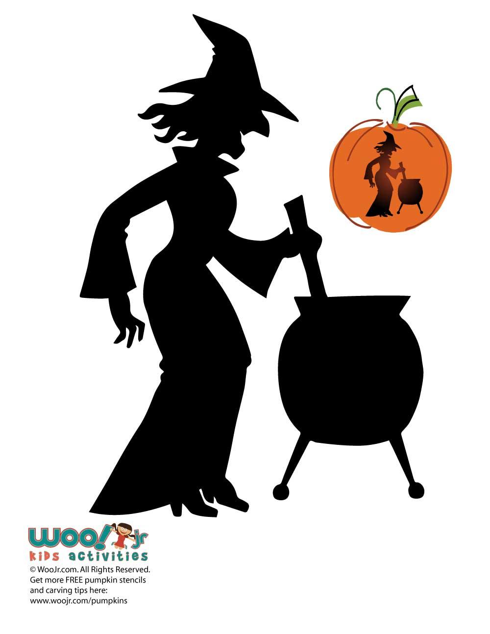 Free Printable Pumpkin Stencils Witch Caldron - 17.6.kaartenstemp.nl • - Scary Pumpkin Patterns Free Printable
