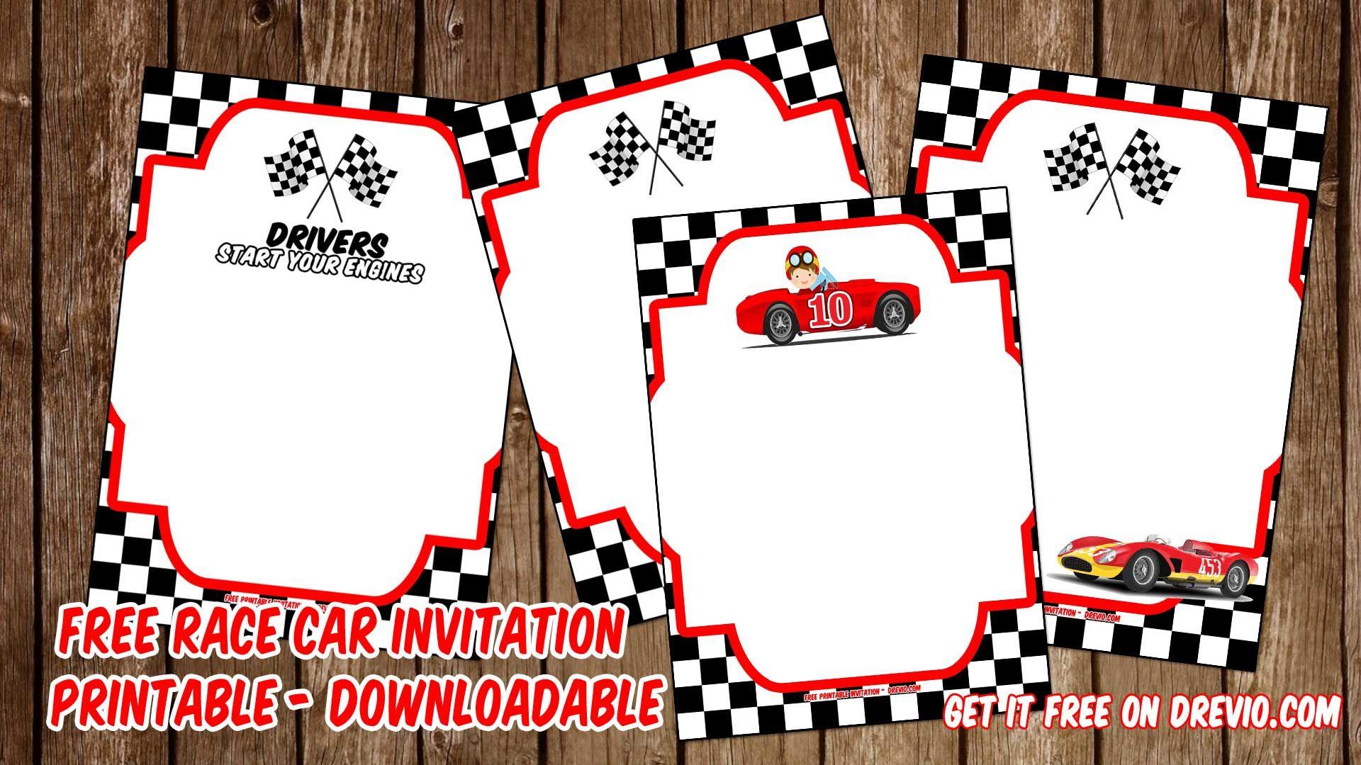 Free Printable Race Car Invitation Templates For John | Invitation - Free Printable Car Template