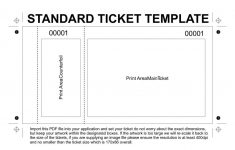 Free Printable Admission Ticket Template