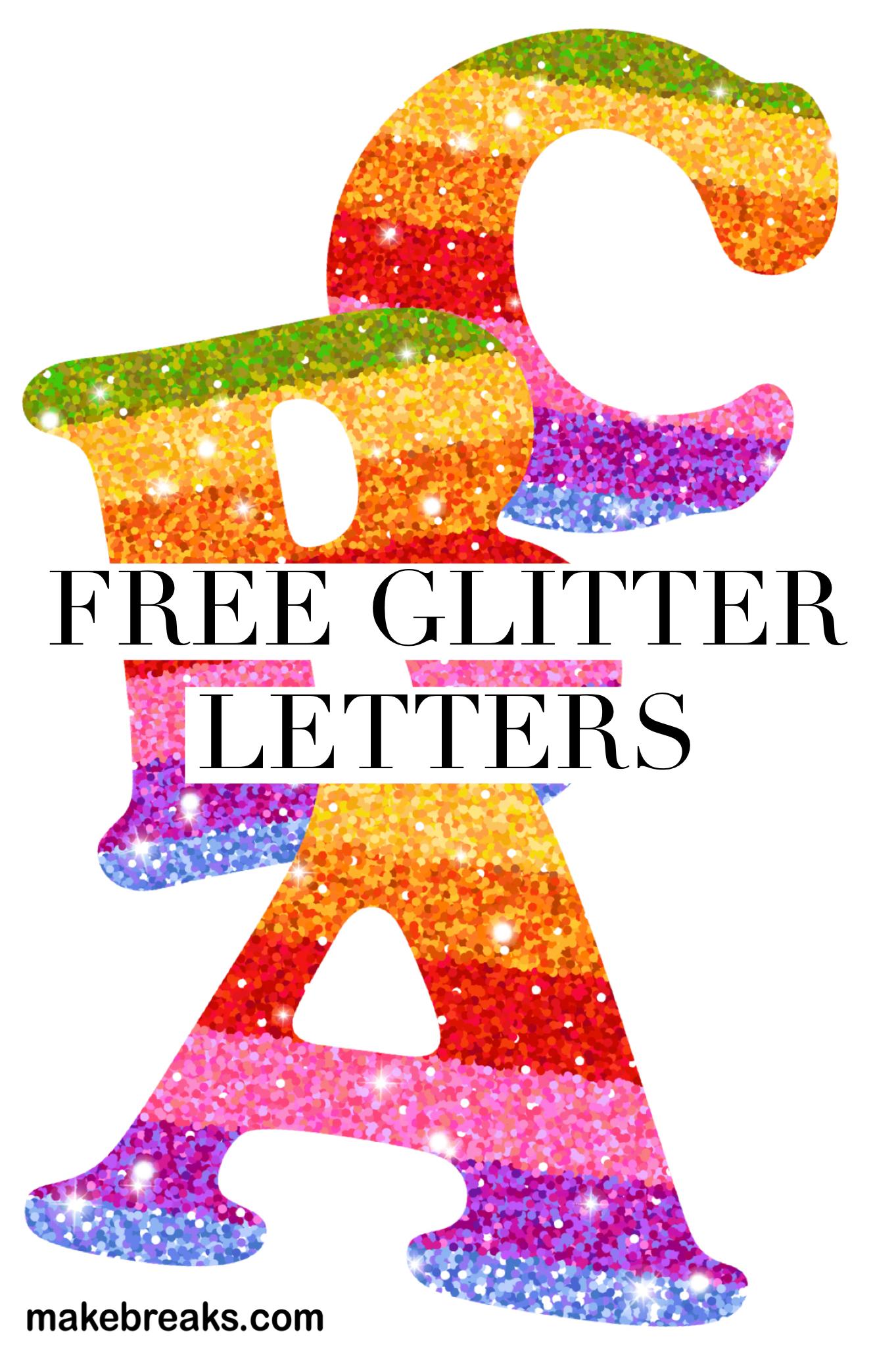 Free Printable Rainbow Glitter Letters   Free Printable Letters - Free Printable Rainbow Letters