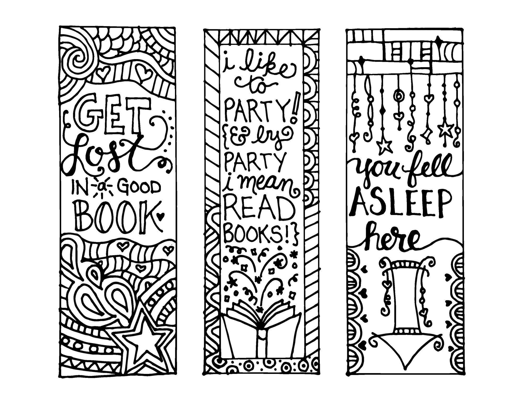 Free Printable Reading Bookmarks Black And White | Activity Shelter - Free Printable Blank Bookmarks