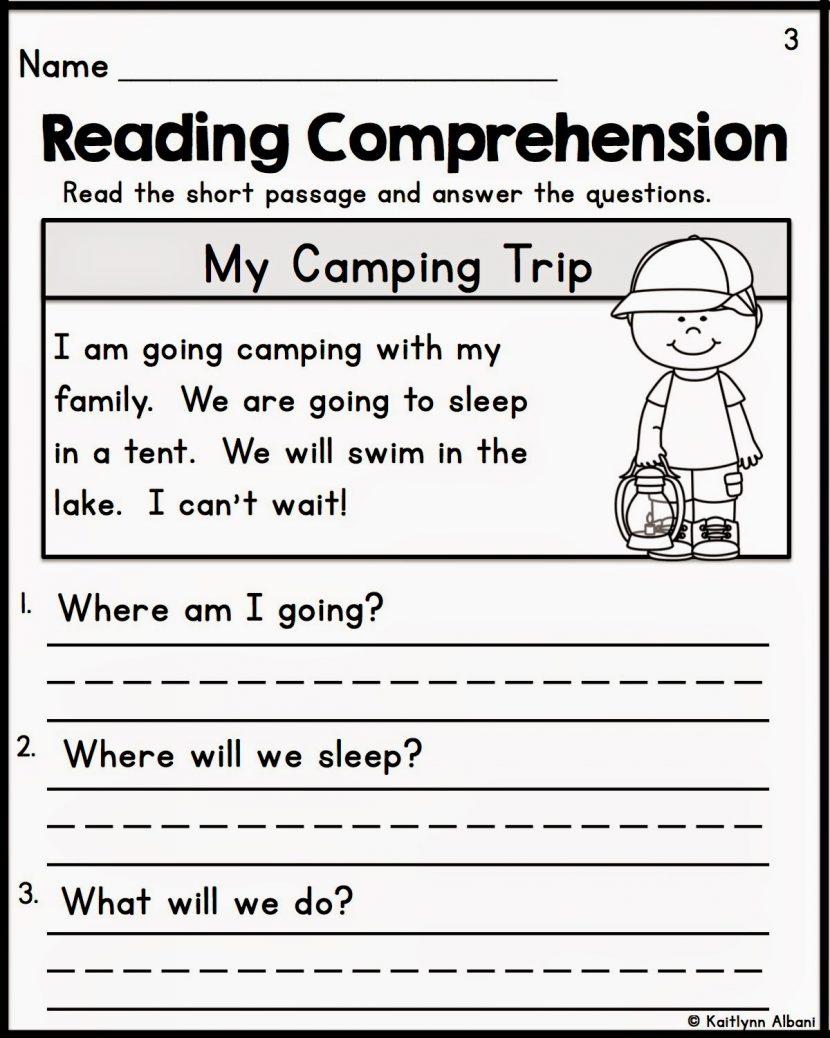 Free Printable Reading Comprehension Worksheets Grade 5 For 1 1224 - Free Printable Reading Activities For Kindergarten