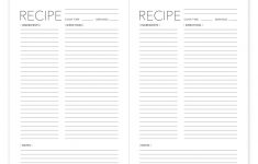Free Printable Recipe Pages