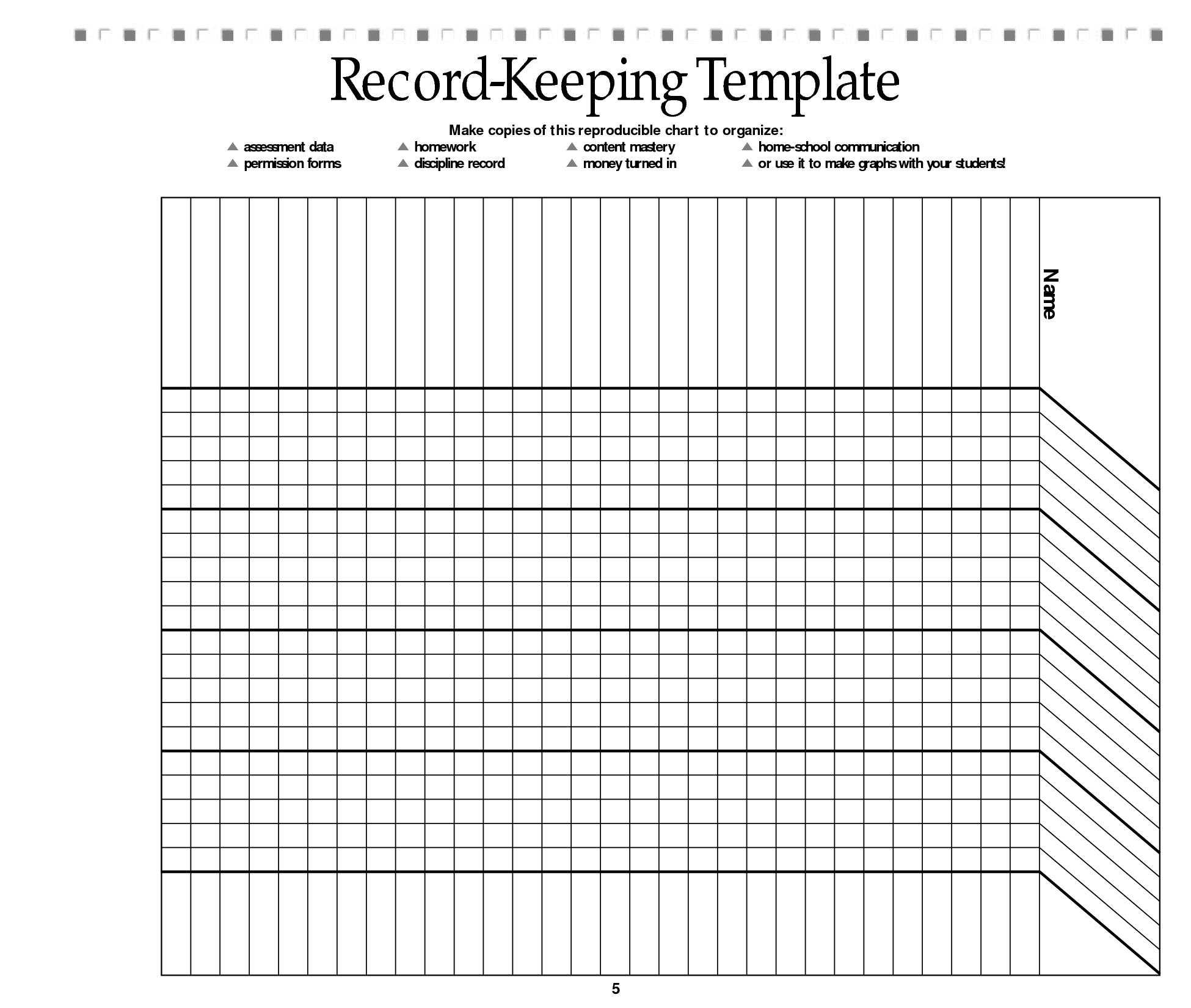 Free Printable Record Keeping Forms | Back To School | Pinterest - Free Printable Attendance Forms For Teachers