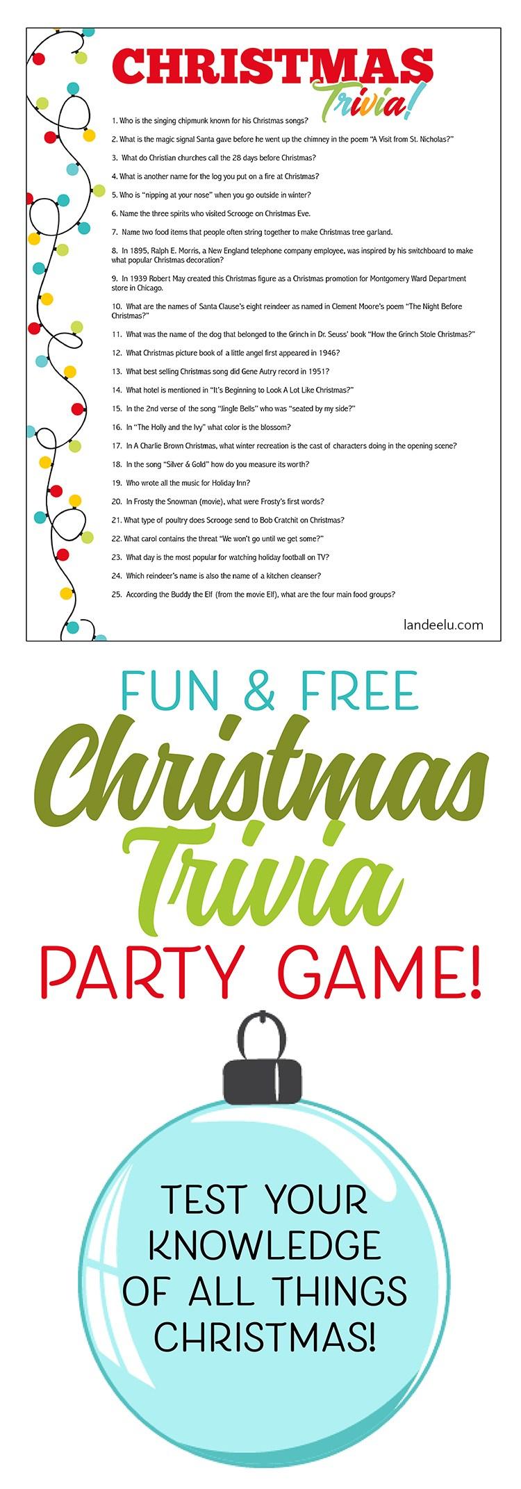 Free Printable Religious Christmas Trivia Games – Festival Collections - Free Printable Religious Christmas Games