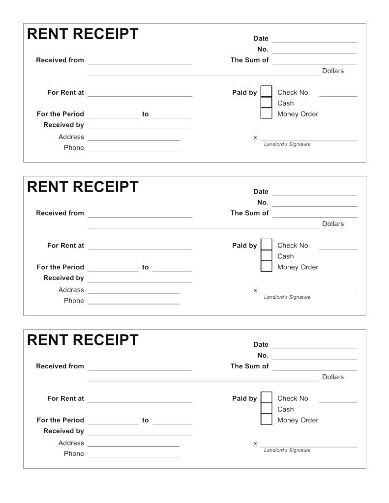 Free Printable Rent Receipts 0 - Colorium Laboratorium - Free Printable Rent Receipt