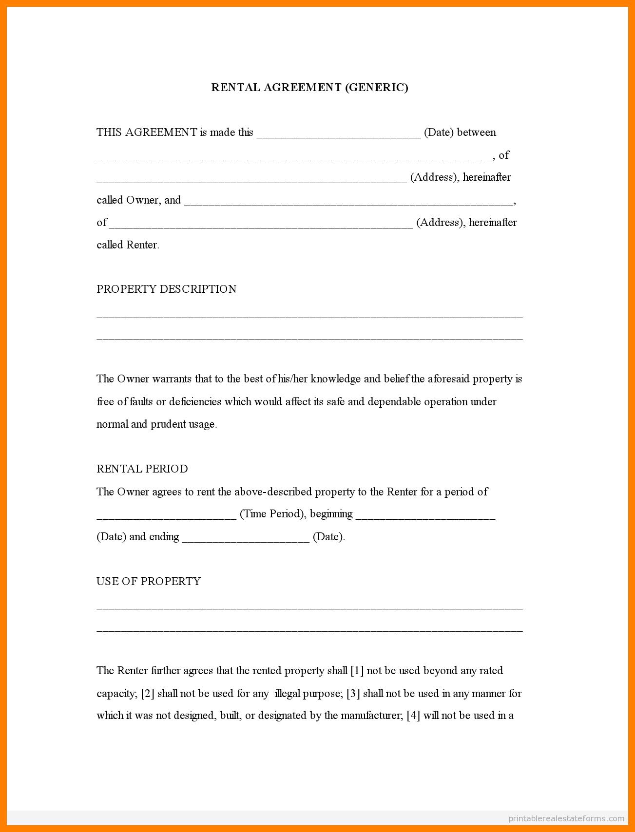 Free Printable Rental Agreement Forms | Bestprintable231118 - Rental Agreement Forms Free Printable