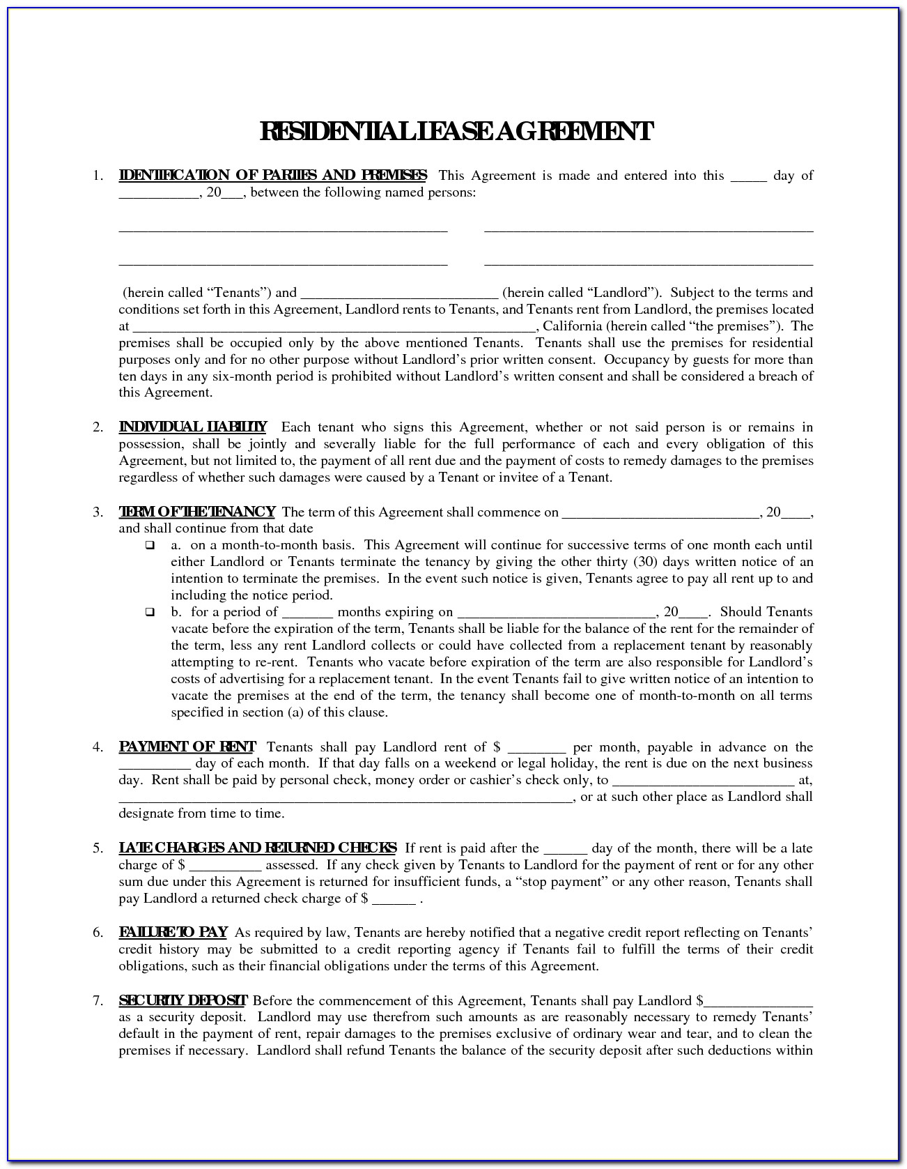 Free Printable Rental Agreement Forms In Spanish - Form : Resume - Rental Agreement Forms Free Printable