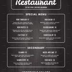 Free Printable Restaurant Menu Templates   Mysembalun   Free Printable Restaurant Menu Templates